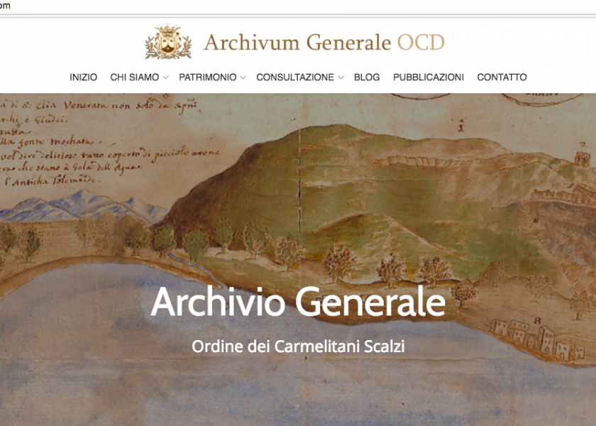 New website for the General Archive of the Discalced Carmelites