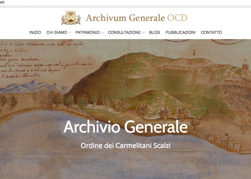 Nova página web do Arquivo Geral dos Carmelitas Descalços