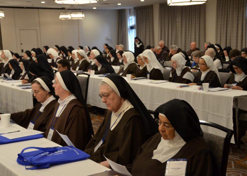Reunión del Padre Saverio con las monjas de los Estados Unidos de América