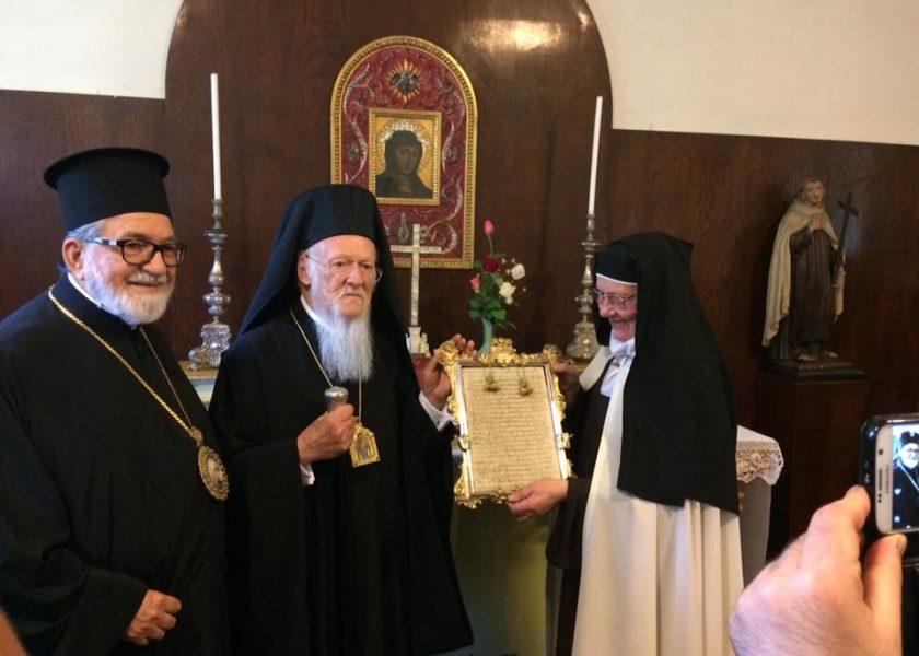 Visita del Patriarca Ecuménico Bartolomé I a las hermanas de Bolonia