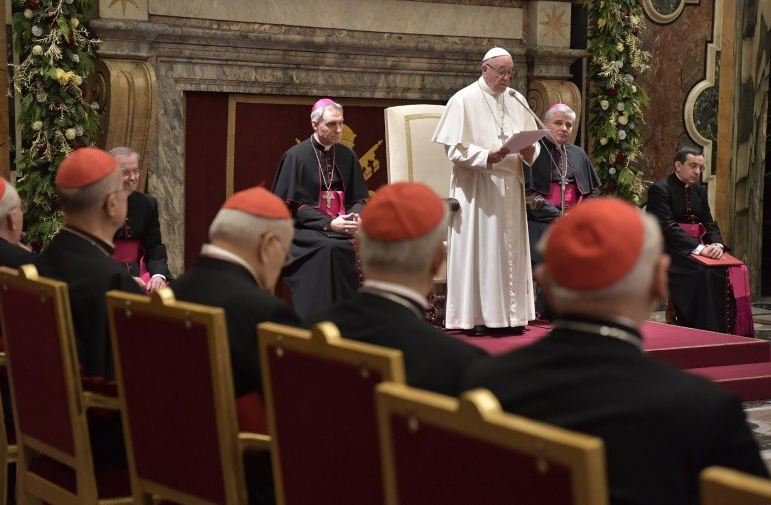 A Carmelite Christmas gift from Pope Francis to the Curia
