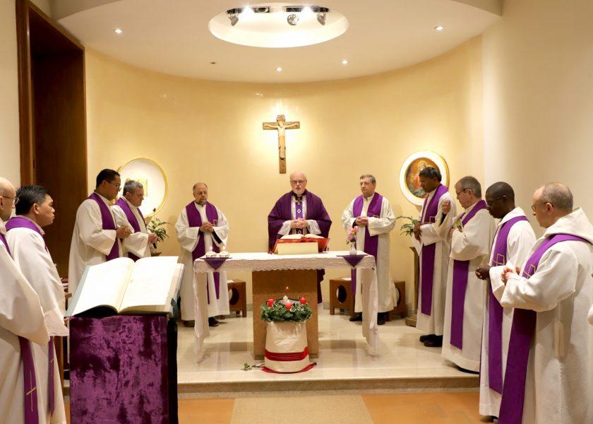 Sua Eminência cardeal Arborelius ele pegou posse do título de Santa Maria dos Anjos
