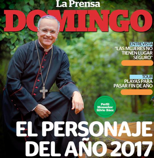Mons. Silvio Báez, homem do ano em Nicarágua