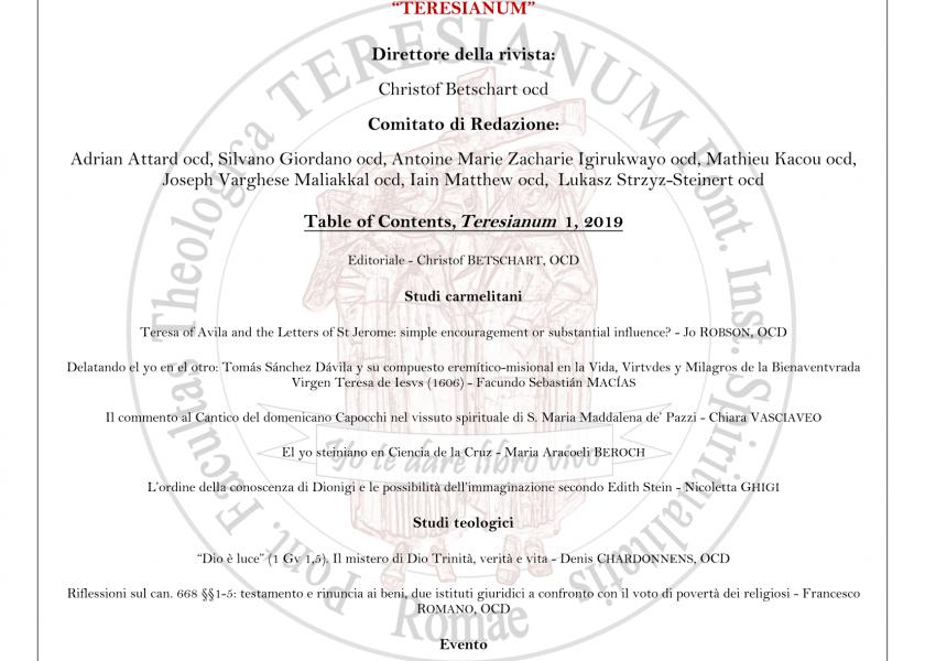 Die Zeitschrift 'Teresianunm' online
