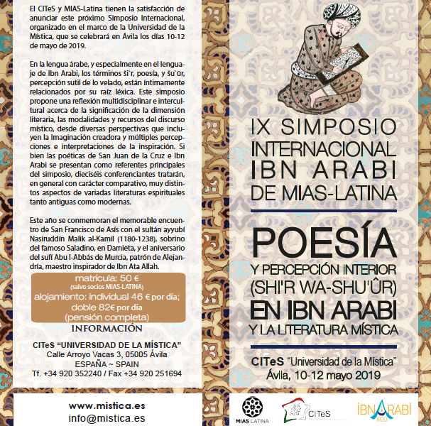 IX Ibn Arabi International Symposium of MIAS-Latina. At the University of Mysticism – Ávila