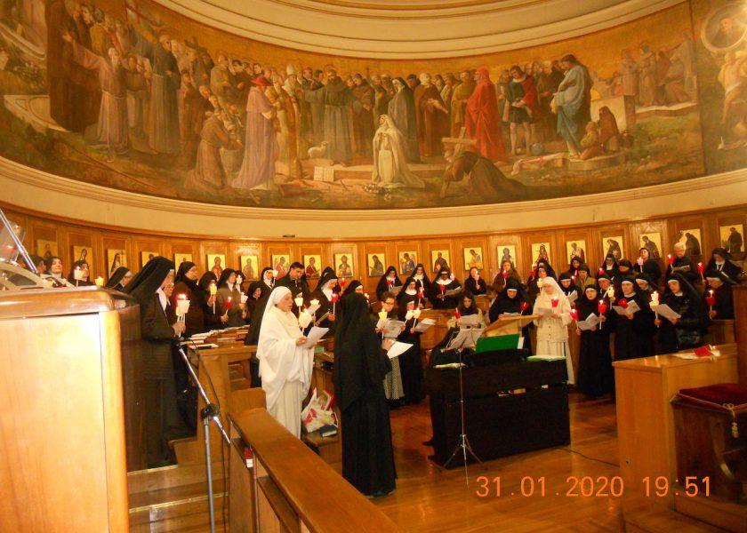 As contemplativas se reuniram em Roma